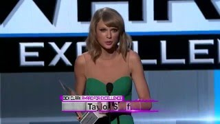 Taylor Swift Wins Dick Clark Award for Excellence - AMA 2014