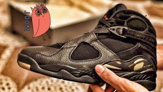"Nike Air Jordan 8 ""OVO"" Black/Metallic Gold Colorway Sneaker Unboxing and On-Foot Review"