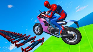 Spidermen Bridge Ramps Black Panther Captain America Superbike and Supercars