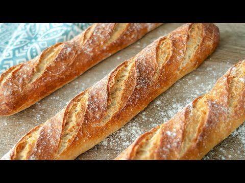 ФРАНЦУЗСКИЙ БАГЕТ   очень вкусный домашний хлеб   простой рецепт теста   выпечка French Baguette
