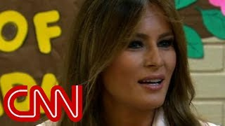 Melania Trump makes surprise visit to border