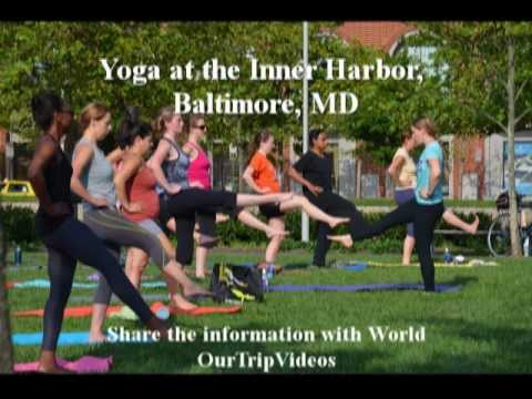 Pictures of Yoga at the Inner Harbor, Baltimore, MD, US