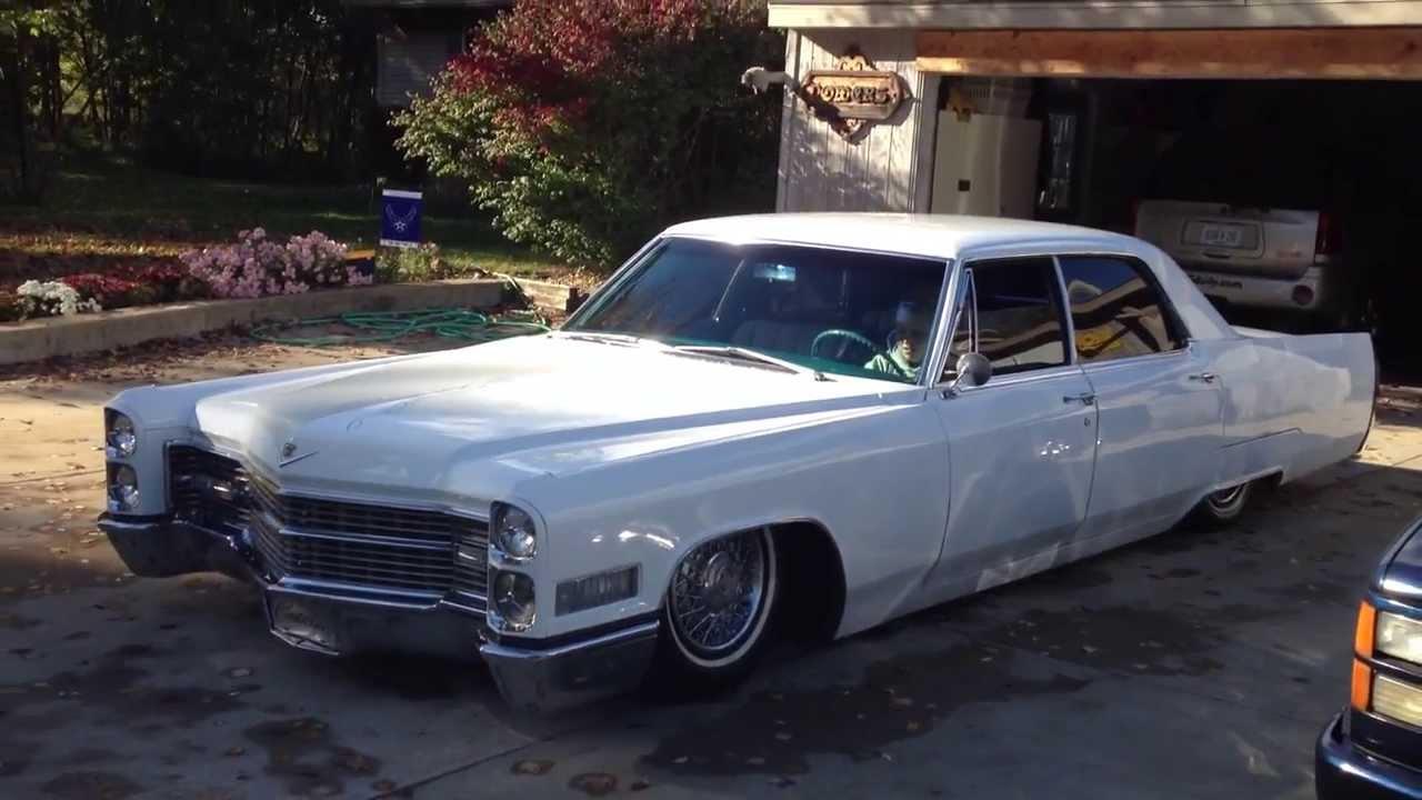 BadAss 66 Caddy Air Ride Dropped,Bagged,and Slammed 66 Caddy Resto Mod 1966 Cadillac - YouTube