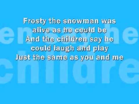 Frosty The Snowman - Lyrics