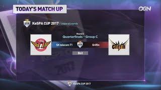 [LoL KeSPA Cup 2017] SKT vs FIN - 2라운드 8강 C조 1경기