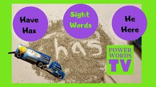Sight Words Lesson 5  Fun Sight Words Video Best Learning Video