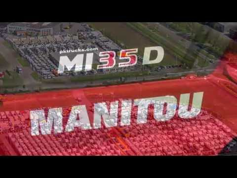 div3777 Manitou MI 35 D masted forklift