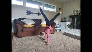 How To Learn Gymnastics At Home | 6 Beginner Gymnastic Moves!