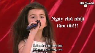 """[Vietsub]  Ám ảnh với """"bài hát tự sát"""" của cô bé 7 tuổi Angelina Jordan quán quân Norway's GT 2014"""