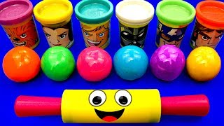 Learn Colors with 6 Play Doh Balls Color Song | LOL PJ Masks Surprise Toys Chupa Chups Surprise Eggs