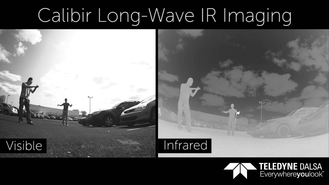 Teledyne DALSA Calibir: IR-VIS side by side (longwave infrared / LWIR)
