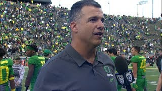 Oregon coach Mario Cristobal glad to see veterans, newcomers make plays during spring game