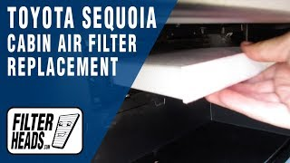 How to Replace Cabin Air Filter 2011 Toyota Sequoia
