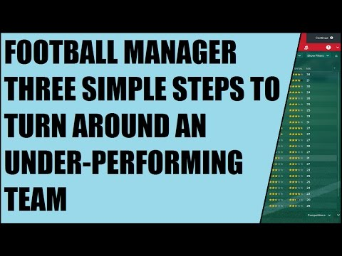 Football Manager: Three Simple Steps To Turn Around An Under-performing Team