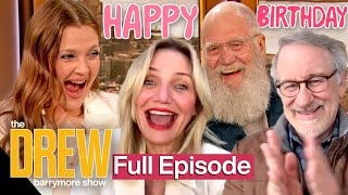 Drew Barrymore's Surprise Birthday Special: David Letterman, Cameron Diaz, Steven Spielberg & More