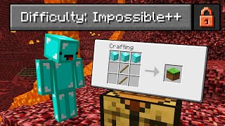 """I Played Minecraft on """"IMPOSSIBLE++"""" Difficulty..."""