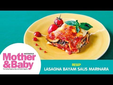Lasagna Bayam Saus Marinara