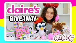 Squishies At Claire's? Claire's Haul Giveaway! Ambi C Vlog