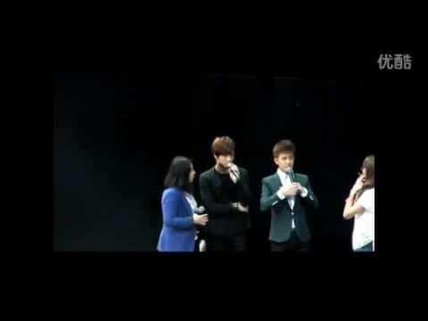 JaeJoong's cute reaction when fan shout