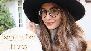 SEPTEMBER FAVORITES // new glasses & home things!