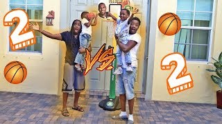 2 VS 2 Basketball Game DJ Vs  Super Siah And His Dad