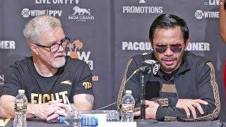 Manny Pacquiao FULL POST FIGHT PRESS CONFERENCE vs. Adrien Broner | Boxing