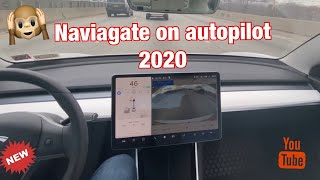 My Tesla driving me home using Navigate on Autopilot | Hardware 3