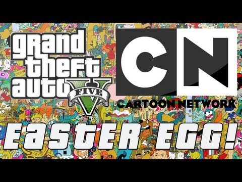 Grand Theft Auto 5 Cartoon Network Car Tune Easter Egg