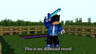 "♫ ""DIAMOND SWORD"" - MINECRAFT PARODY OF DEMONS ♫ [REMASTERED]"