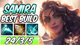 S+ SAMIRA ADC GUIDE | Best Build & Runes | Diamond Commentary | League of Legends