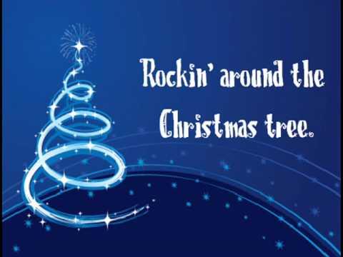 Miley Cyrus - Rockin' Around The Christmas Tree (Lyrics)