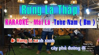 Karaoke Rừng Lá Thấp - Beat chuẩn Nhạc sống | Guitar Bolero Mái Lá | Tone Nam Bm