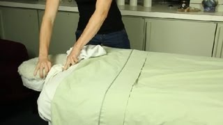 How to Set Up a Comfortable Massage Table : Massage Therapy, Oils & Aromatherapy