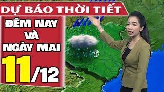 Dự báo thời tiết hôm nay và ngày mai 11/12 | Khí Lạnh Tăng Cường | Dự báo thời tiết đêm nay mới nhất