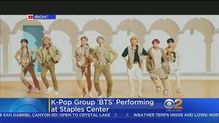 Fans Camp Out Ahead Of BTS Concert At Staples Center