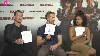 Deadpool 2 interview with Ryan Reynolds, Josh Brolin, Zazie Beetz
