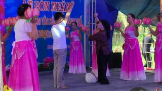 Văn nghệ đón làng văn hóa - Thôn 15 - Lộc ninh - ĐH-QB Phần 1
