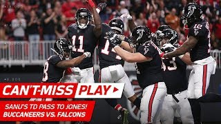 Mohamed Sanu's TD Pass to Julio Jones, Amazing Trick Play! 🦄 | Can't-Miss Play | NFL Wk 12