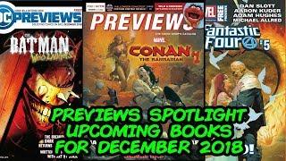 Previews Spotlight - Upcoming Comic Books for December 2018!!
