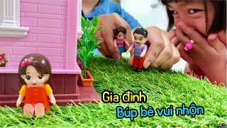 Gia đình vui nhộn, hoạt hình búp bê đồ chơi, Family story doll toys, entertainment for babie