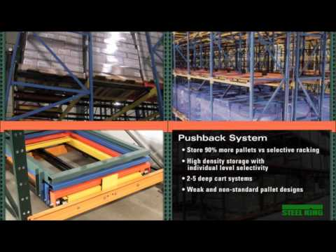 Steel King Pushback Racking System
