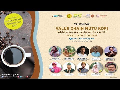 "https://www.youtube.com/watch?v=jHI-uQCLjHoTalk Show ""Value Chain Mutu Kopi melalui Penerapan Standar dari Hulu Ke Hilir"""