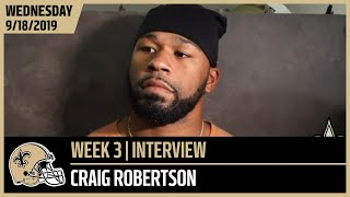 Craig Robertson on Moving Forward Ahead of Week 3 vs Seahawks | New Orleans Saints
