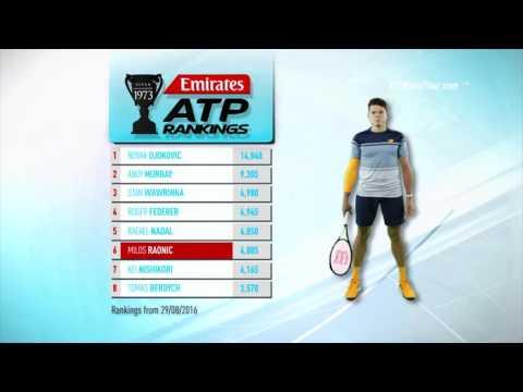Emirates ATP Rankings 5 September 2016