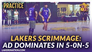 Lakers Practice Videos: AD Dominates In Lakers Scrimmage
