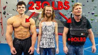 PRO CLIMBER + 80LBS VS 230LB BODYBUILDER (fair?)