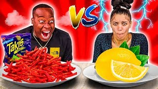 SPICY FOOD VS SOUR FOOD CHALLENGE