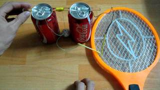 Electric Fly Swatter + Coke can = Franklin's bell