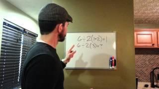 6÷2(1+2)=? correctly explained.