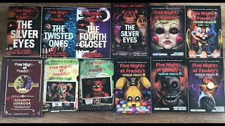 FNAF - FULL BOOK COLLECTION UPDATED SHOWCASE 2015-2020 ALL 12 BOOKS!